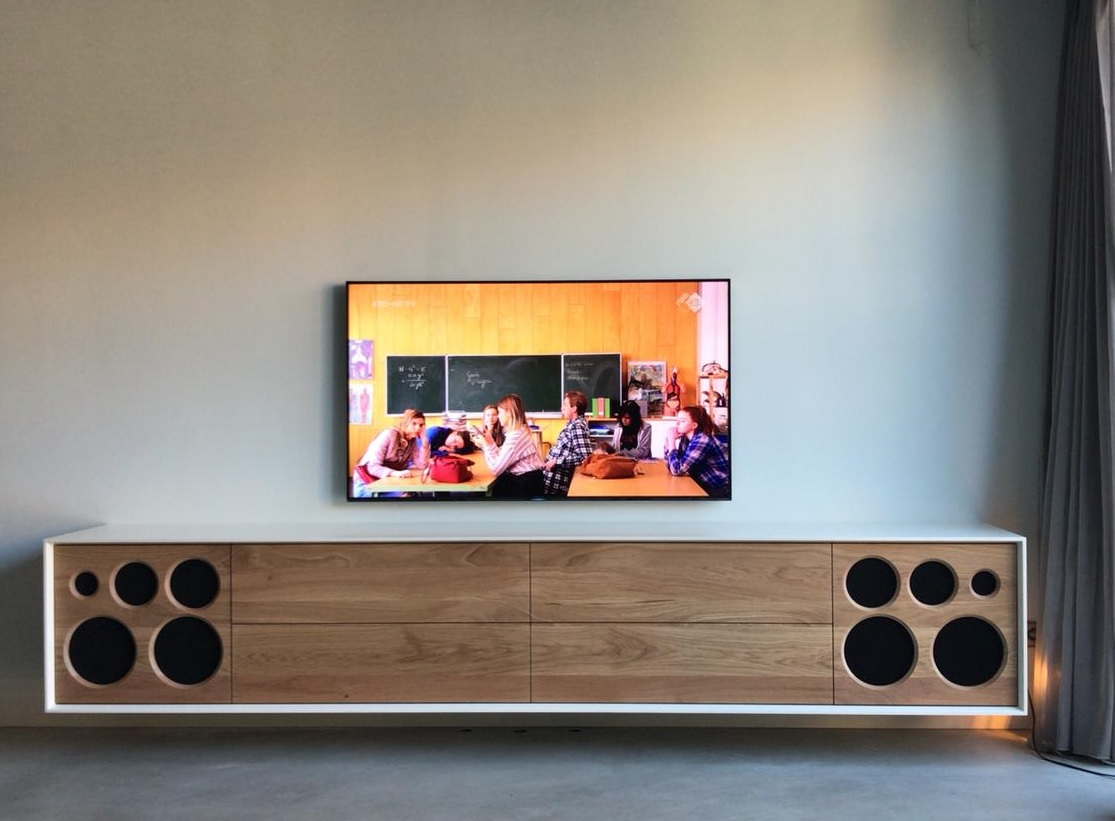 Tv Radio Meubel : Maatwerk av meubelen hepta design audio